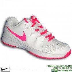 Nike VAPOR COURT CHICA Zapatilla tenis blanco-rosa mujer SUELA ESPIGA personalizar nombre bandera 631703-103