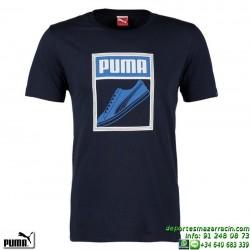 Camiseta Puma Puma Tongue label tee AZUL MARINO deporte hombre 832424-06