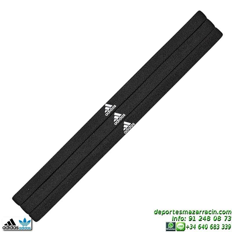 cinta de pelo para futbol adidas sportbands 3pp negro