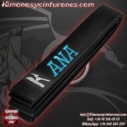 Bordar Nombre Cinturon artes marciales