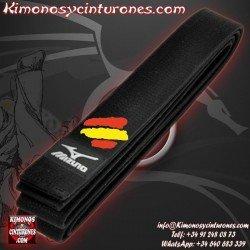 Bordar bandera españa Cinturon artes marciales