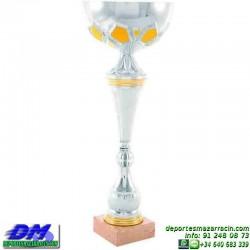 Trofeo copa comercial 5251 diferentes alturas premio deporte pallart grabado chapa grabada