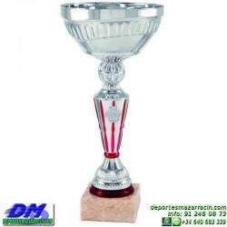 Trofeo copa comercial 5252 diferentes alturas premio deporte pallart grabado chapa grabada