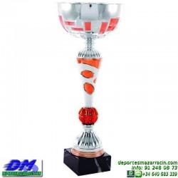 Trofeo copa comercial 5257 diferentes alturas premio deporte pallart grabado chapa grabada