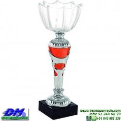 Trofeo copa comercial 5255 diferentes alturas premio deporte pallart grabado chapa grabada