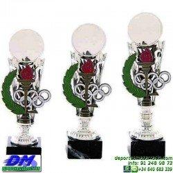 Trofeo copa economico 5298 diferentes alturas premio deporte pallart grabado chapa personalizado