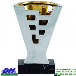 Trofeo ceramica 5019 diferentes alturas premio deporte pallart grabado chapa grabada