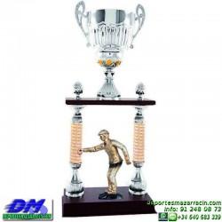 Trofeo copa columnas 5097 diferentes alturas premio deporte pallart grabado chapa grabada