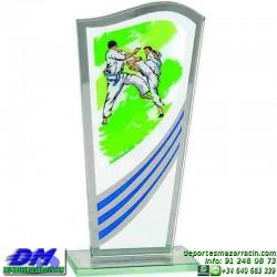 Trofeo copa con aplique 5321 economico premio deporte pallart grabado chapa personalizado