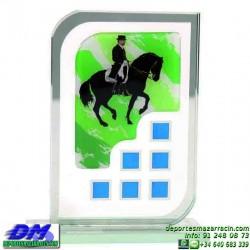 Trofeo copa con aplique 5322 economico premio deporte pallart grabado chapa personalizado