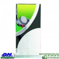 Trofeo copa con aplique 5323 economico premio deporte pallart grabado chapa personalizado