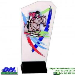 Trofeo copa con aplique 5324 economico premio deporte pallart grabado chapa personalizado