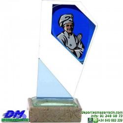 Trofeo copa con aplique 5326 economico premio deporte pallart grabado chapa personalizado