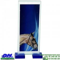 Trofeo copa con aplique 5328 economico premio deporte pallart grabado chapa personalizado