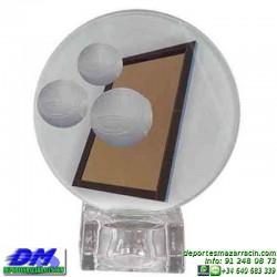 Trofeo copa con aplique 5329 economico premio deporte pallart grabado chapa personalizado