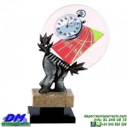 Trofeo copa con aplique 5332 economico premio deporte pallart grabado chapa personalizado