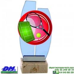 Trofeo copa con aplique 5335 economico premio deporte pallart grabado chapa personalizado