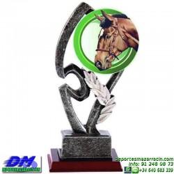 Trofeo copa con aplique 5336 economico premio deporte pallart grabado chapa personalizado