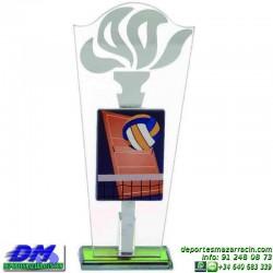 Trofeo copa con aplique 5340 economico premio deporte pallart grabado chapa personalizado