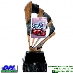 Trofeo copa con aplique 5342 economico premio deporte pallart grabado chapa personalizado