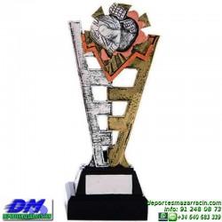 Trofeo copa con aplique 5345 economico premio deporte pallart grabado chapa personalizado