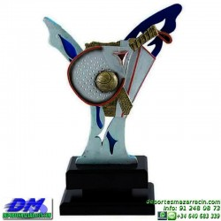 Trofeo copa con aplique 5348 economico premio deporte pallart grabado chapa personalizado