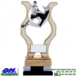 Trofeo copa con aplique 5355 economico premio deporte pallart grabado chapa personalizado