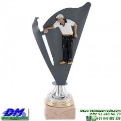 Trofeo copa con aplique 5360 economico premio deporte pallart grabado chapa personalizado