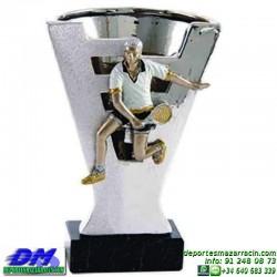 Trofeo copa con aplique 5362 economico premio deporte pallart grabado chapa personalizado