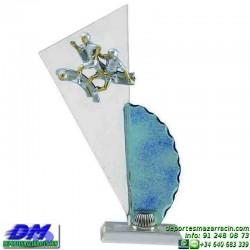 Trofeo copa con aplique 5364 economico premio deporte pallart grabado chapa personalizado