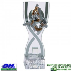 Trofeo copa con aplique 5365 economico premio deporte pallart grabado chapa personalizado