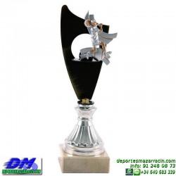 Trofeo copa con aplique 5366 economico premio deporte pallart grabado chapa personalizado