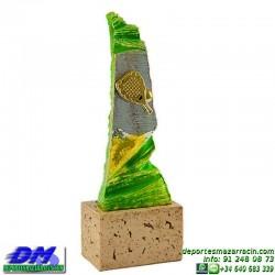 Trofeo copa con aplique 5370 economico premio deporte pallart grabado chapa personalizado