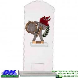 Trofeo copa con aplique 5375 economico premio deporte pallart grabado chapa personalizado