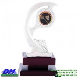 Trofeo copa con aplique 5378 economico premio deporte pallart grabado chapa personalizado