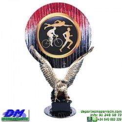 Trofeo copa con aplique 5379 economico premio deporte pallart grabado chapa personalizado