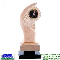Trofeo copa con aplique 5381 economico premio deporte pallart grabado chapa personalizado