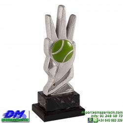 Trofeo copa con aplique 5382 economico premio deporte pallart grabado chapa personalizado