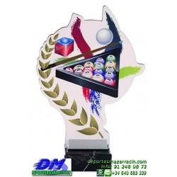 Trofeo copa con aplique 5385 economico premio deporte pallart grabado chapa personalizado