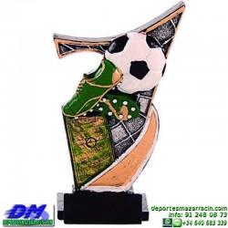 Trofeo copa con aplique 5386 economico premio deporte pallart grabado chapa personalizado