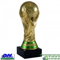 Trofeo Futbol 5389 replica copa del mundo mundial premio pallart chapa grabada diferentes tamaños alturas
