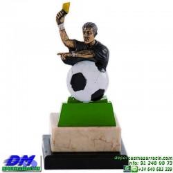 Trofeo Futbol 5440 arbitro colegiado guruceta copa premio pallart chapa grabada diferentes tamaños alturas