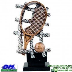 Trofeo Tenis 5465 copa premio tenista raqueta diferentes alturas pallart tamaños chapa grabada