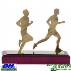 Trofeo Atletismo 5472 copa premio running diferentes alturas pallart metal croos atleta meta tamaños chapa grabada