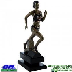 Trofeo Atletismo 5476 copa premio femenino running diferentes alturas pallart croos atleta meta tamaños chapa grabada