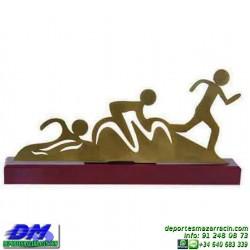Trofeo Triatlon 5485 copa premio atletismo running cross pallart atleta meta chapa grabada