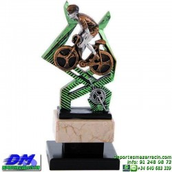 Trofeo Ciclismo 5501 premio diferentes alturas pallart ciclista bici bicicleta tamaños chapa grabada