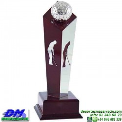 Trofeo Golf 5526 pelota golfista premio jugador pallart chapa grabada