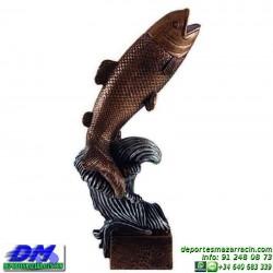Trofeo Pesca 5532 pez pescado caña premio diferentes alturas pallart tamaños chapa grabada