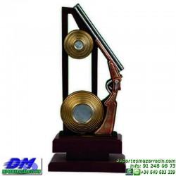 Trofeo Tiro al Plato 5545 deportivo premio forma escopeta diferentes alturas pallart tamaños chapa grabada
